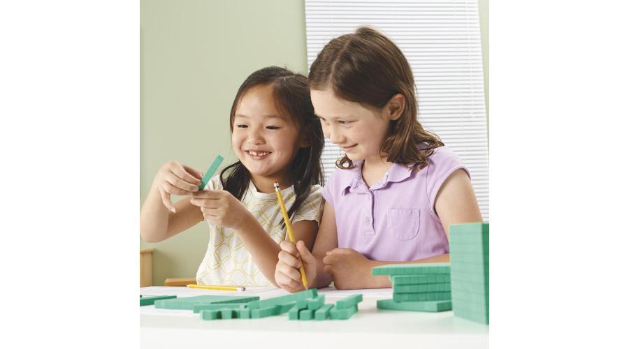 students using base ten blocks