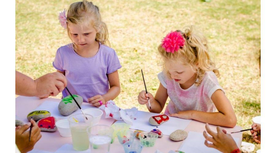 Painted Rocks by Kids