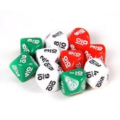 10-Sided Fraction Dice, Set of 10
