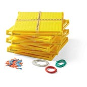XY Coordinate Pegboards, Set of 6
