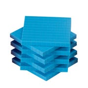 Blue Plastic Base Ten Flats, Set of 10