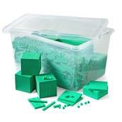 Foam Base Ten Blocks Classroom Kit, Set of 1,610