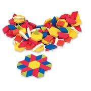 Plastic Pattern Blocks, 1/2-cm, Set of 250