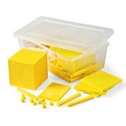 Yellow Plastic Base Ten Blocks Starter Set