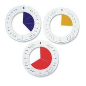 Rainbow Fraction® Circle Rings, Set of 5