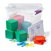 Plastic Differentiated Base Ten Blocks Class Set