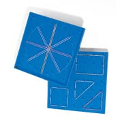 Geoboard, 7 x 7-pin Double-Sided, Blue
