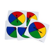 Four-Color Spinners, Set of 5