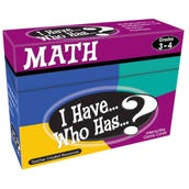 I Have... Who Has...? Math Cards, Grades 3-4