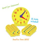 Big Time™ Learning Clock Classroom Pack, Set of 24