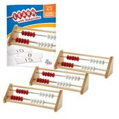 20-Bead Wooden Learn with Rekenreks Small Group Kit