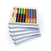 Six-Tray Pack of Plastic Cuisenaire® Rods, Set of 6