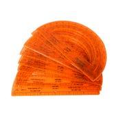 Orange Protractors, Set of 24