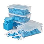 Blue Plastic Base Ten Blocks Class Set
