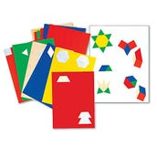 Reusable Pattern Blocks Stickers, Set of 635