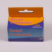 Toothpicks, Round, Set of 250