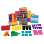 Rainbow Fraction® Squares Classroom Kit, Set of 15