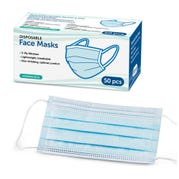 Adult Disposable Face Masks, Pack of 50
