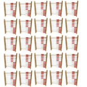 Rekenrek 100-Bead Wood, Class Set of 25 with Demo Frame