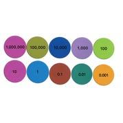 Magnetic Place Value Demo Disks, Set of 200