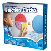 Foam Magnetic Fraction Circles, Set of 87