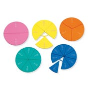 Connecting Plastic Fraction Circles, Set of 5