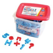 Color-Coded Alpha And Mathmagnets® (Set Of 214)