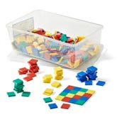 Plastic Color Tiles with Tote, Set of 400