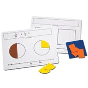 Write-On/Wipe-Off Fraction Mats, Set of 10