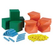 Foam Differentiated Base Ten Blocks Class Set