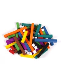 Wooden Cuisenaire® Rods Introductory Set, Set of 74