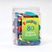 Foam Fun Magnet Numbers, Set of 80