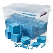 Plastic Base Ten Blocks Classroom Kit, Set of 1,610