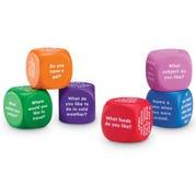 Conversation Cubes, Foam, Assorted Colors, Set of 6
