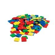 Plastic Color Tiles, Set of 100