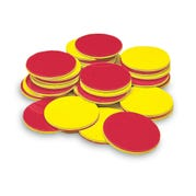 Plastic Two-Color Counters, Set of 200