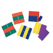 Foam Basic Fraction Squares, Set of 24