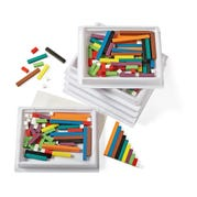 Six-Tray Pack of Wood Cuisenaire® Rods, Set of 6