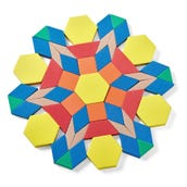 Foam Pattern Blocks, 1-cm, Set of 250