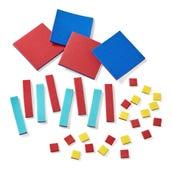 Foam Algebra Tiles, Student Set