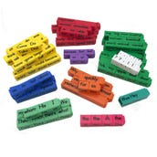 Reading Rods® Sentence Construction Cubes, Set of 156
