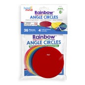 Rainbow™ Angle Circles, Plastic, 36 Pieces