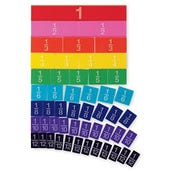 Embossed Rainbow Fraction® Tiles, Set of 51