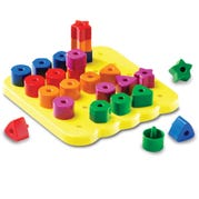 Stacking Shapes Pegboard Activity Set