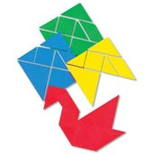 Tangrams, Plastic, Set of 4