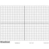 Double-Sided Write 'N' Wipe Coordinate Grid Board, Set of 10