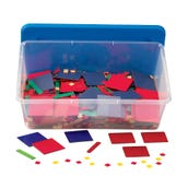 Plastic Algebra Tiles Classroom Kit, Set of 30