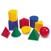 Large Plastic Geometric Solids, Set of 10