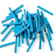 Blue Plastic Base Ten Rods, Set of 50