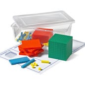 Plastic Differentiated Base Ten Blocks Set